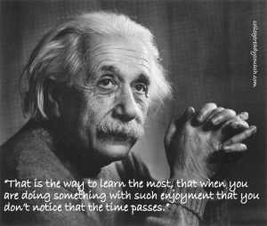 einstein with quote