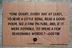 goethe read a little