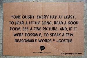 goethe read a little